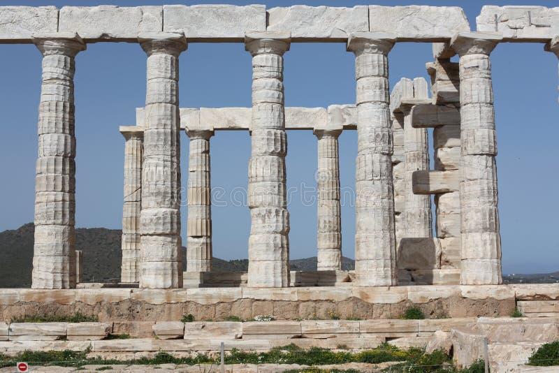 Zeus Temple, Sounion, Attica, Grecia immagine stock libera da diritti