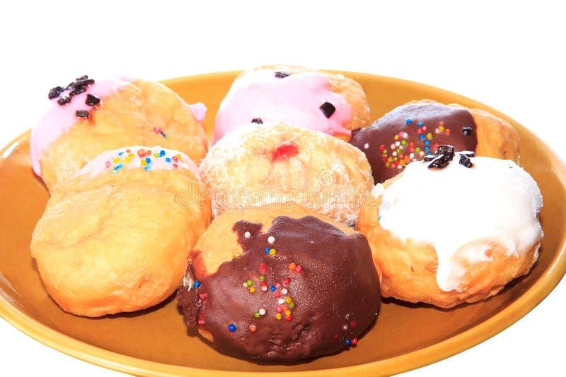 zeven donuts stock afbeelding
