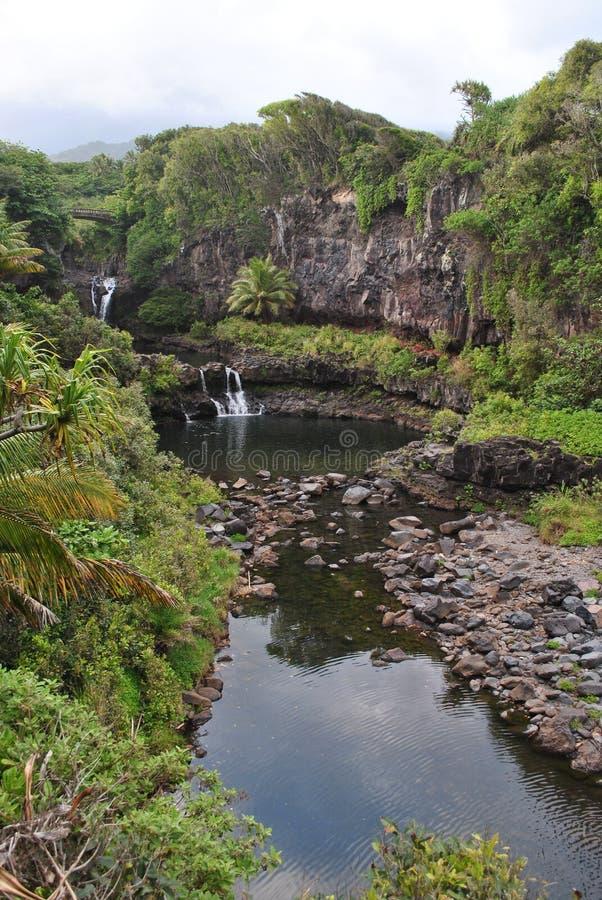Zeven Heilige Pools van Ohio, Maui, Hawaï royalty-vrije stock foto