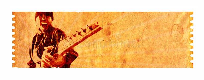 Zeven koordwaanzin (Muziek 02) stock illustratie