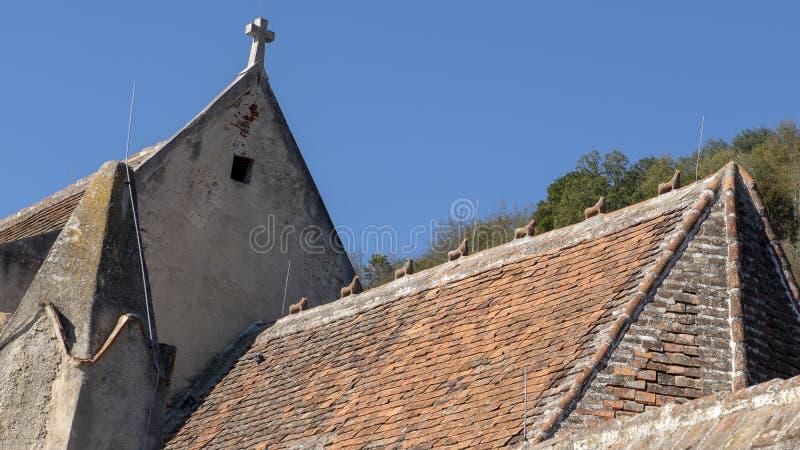 Zeven Steenhazen, St Michael Kerk, het Noordenkant van de Donau, Wachau-Vallei in Lager Oostenrijk stock fotografie