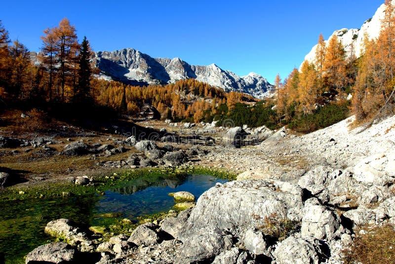 Zeven Triglav-Meren in Mooi Slovenië royalty-vrije stock afbeelding