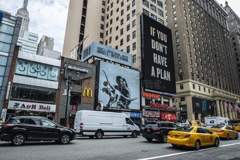 Zevende Weg in de Stad van New York, de V.S. stock foto