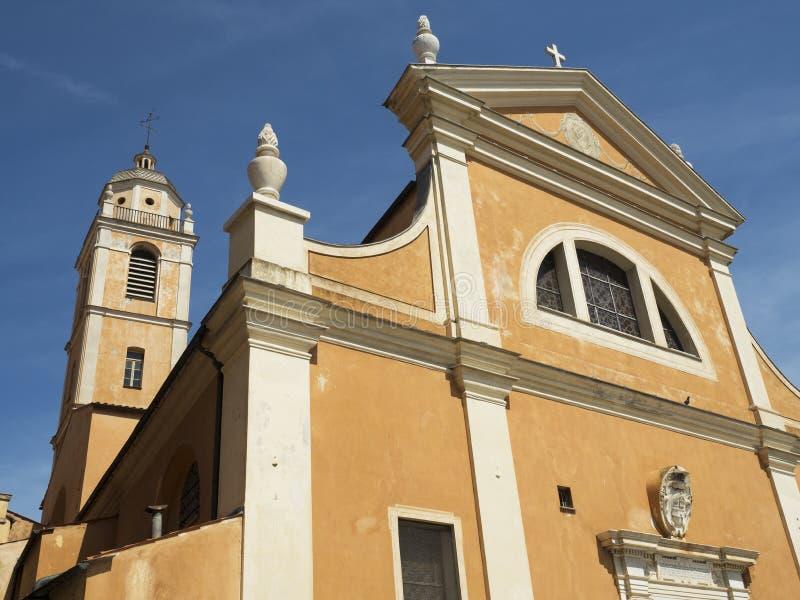 Zewnętrzna fasadowa katedra Ajaccio zdjęcie royalty free