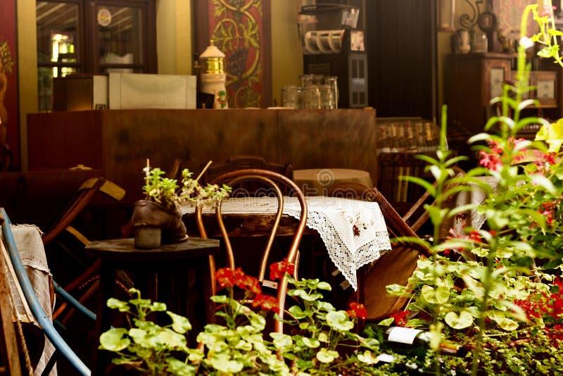 Zewnętrzne kawiarnie obrazy stock