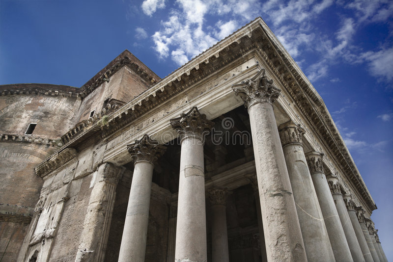 zewnętrzne panteon Włochy Rzymu obraz royalty free