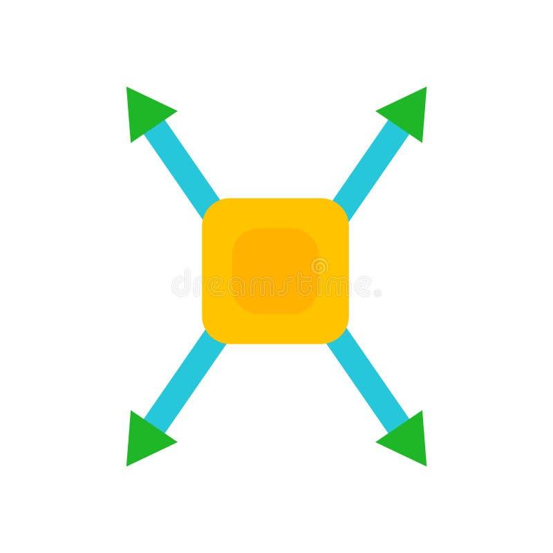 Zewnętrznie ikona wektor odizolowywający na białym tle, External znak royalty ilustracja