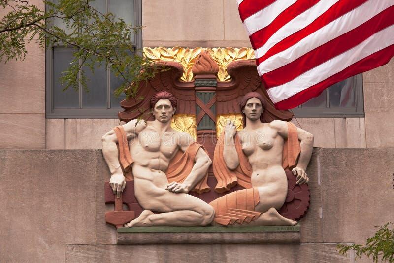 Zewnętrznie Nowy Jork stiuk na 5th alei zdjęcie stock
