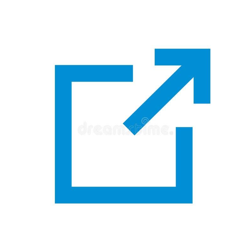 Zewnętrznie połączenia ikona ilustracji