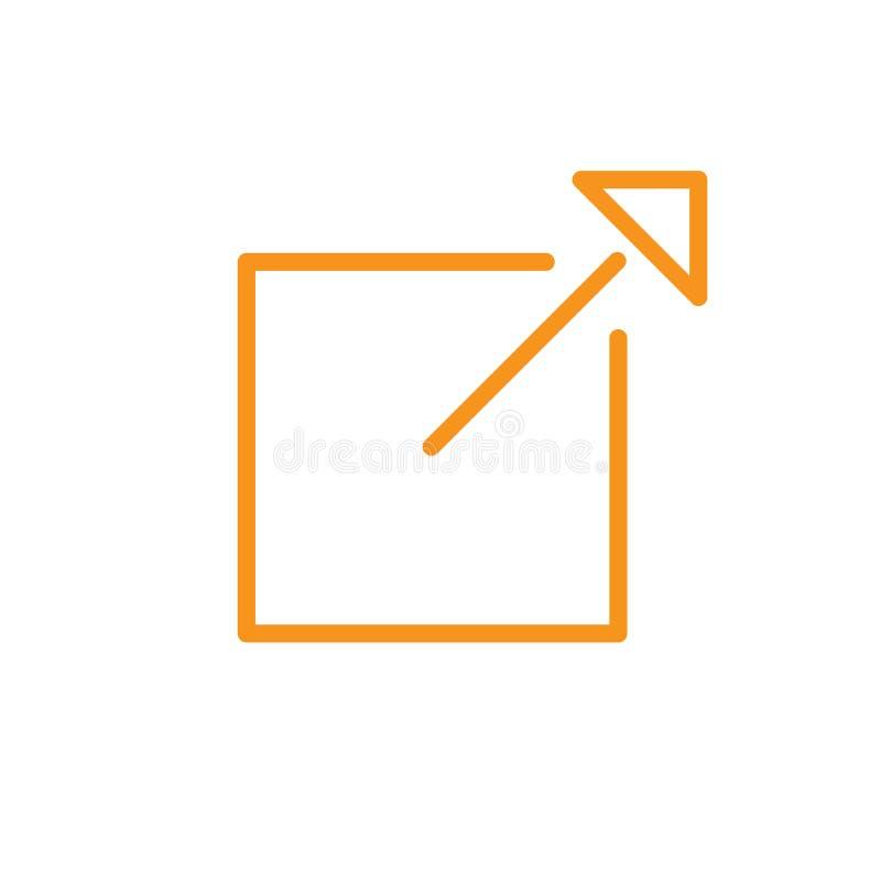 Zewnętrznie połączenia ikona ilustracja wektor