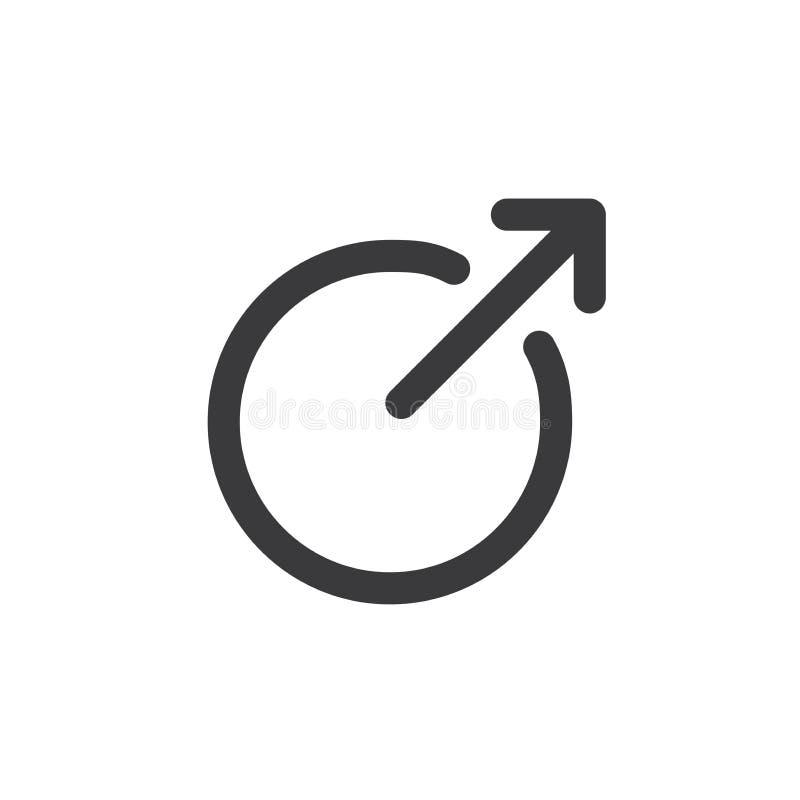 Zewnętrznie połączenia ikona - czerń ilustracji