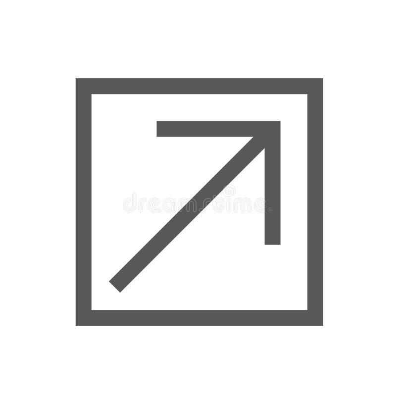 Zewnętrznie połączenia ikona opuszczać stronę internetową ilustracji