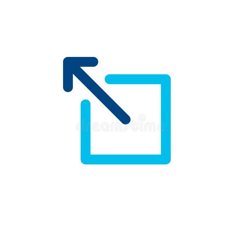 Zewnętrznie połączenia ikona otwiera nowego okno w UX UI app ilustracji