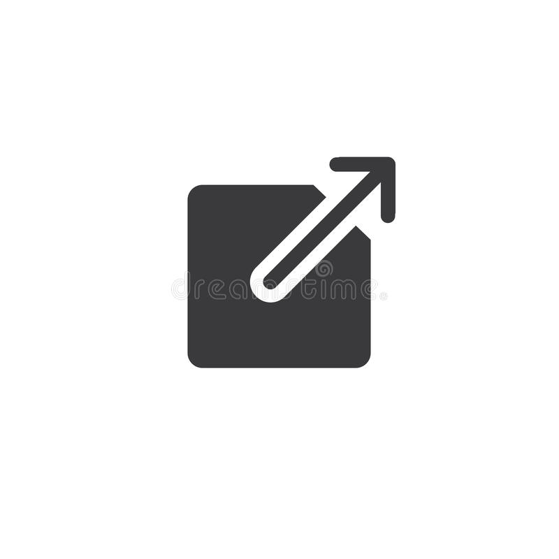Zewnętrznie połączenia ikona - użytkownik zna one opuszcza app royalty ilustracja