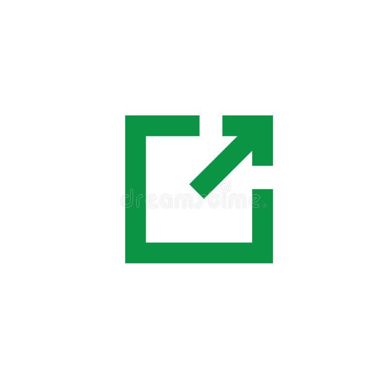 Zewnętrznie połączenia ikona - użytkownik zna one opuszcza app ilustracji