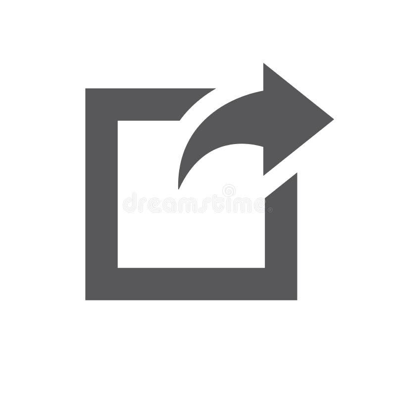 Zewnętrznie połączenia ikona z strzała pokazuje użytkownikowi że opuszczają t royalty ilustracja