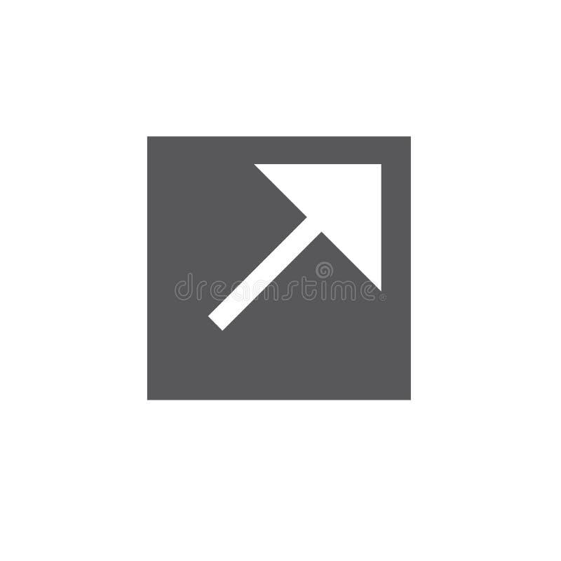 Zewnętrznie połączenia ikona z strzała pokazuje użytkownikowi że opuszczają t ilustracja wektor