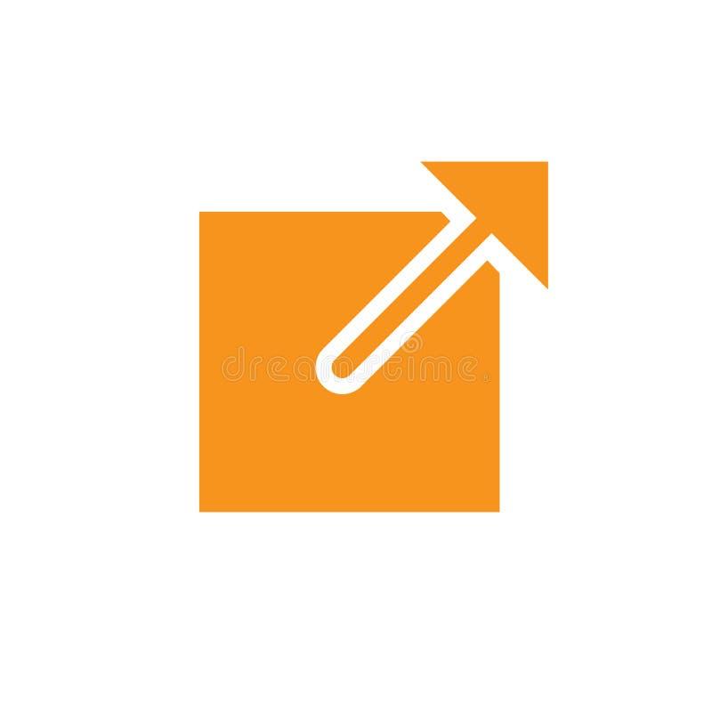 Zewnętrznie połączenia ikona z strzałkowatym zewnętrznie strony internetowej połączeniem ilustracji
