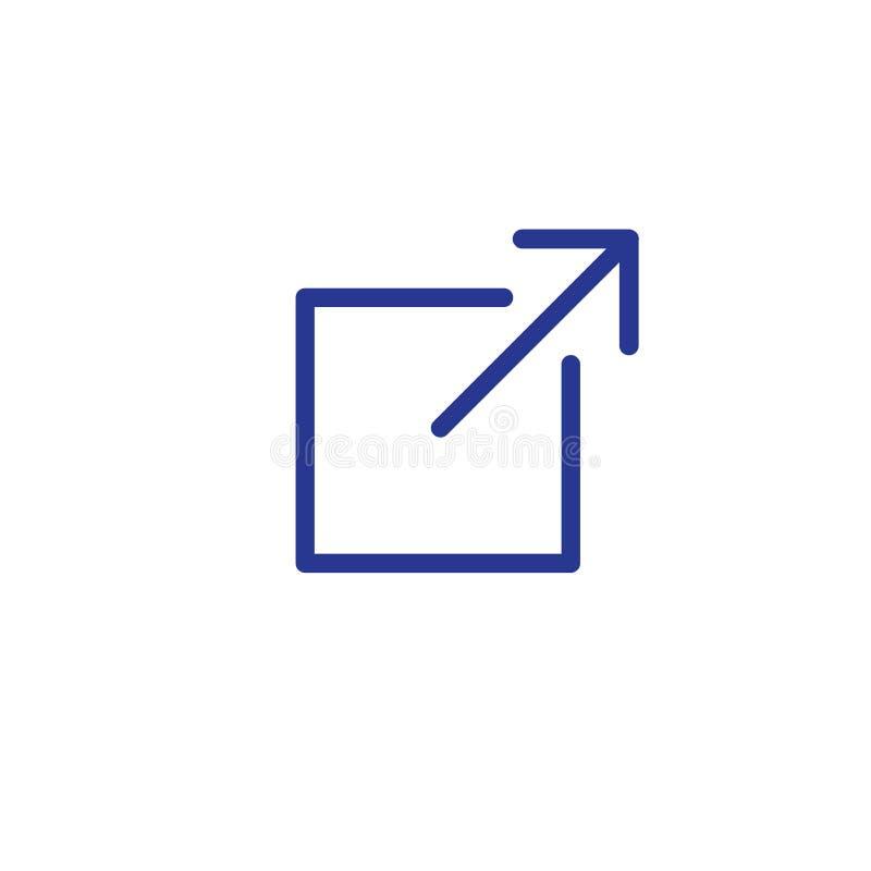 Zewnętrznie strony internetowej połączenia ikona dla UI lub UX app lub strona internetowa royalty ilustracja