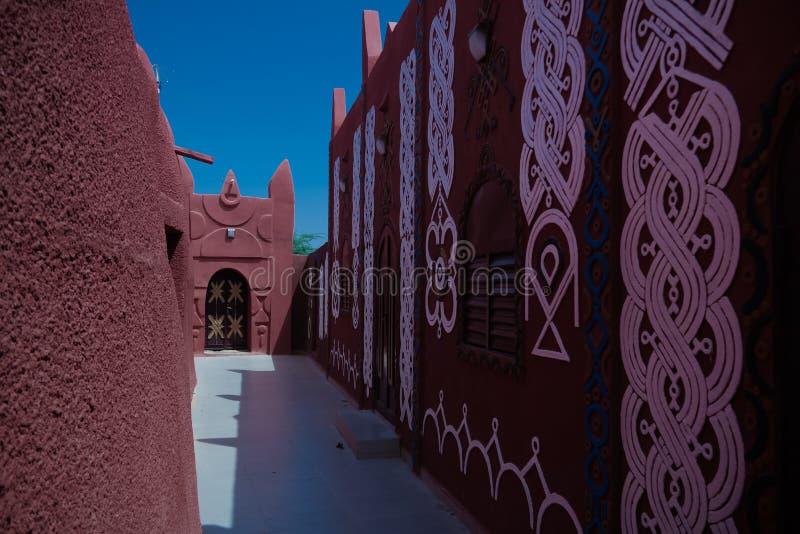 Zewnętrzny widok Damagaram sułtanu siedziba, Zinder, Niger zdjęcie royalty free