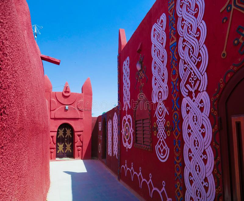 Zewnętrzny widok Damagaram sułtanu siedziba, Zinder, Niger fotografia stock