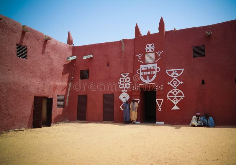 Zewnętrzny widok Damagaram sułtanu siedziba, Zinder, Niger zdjęcie stock