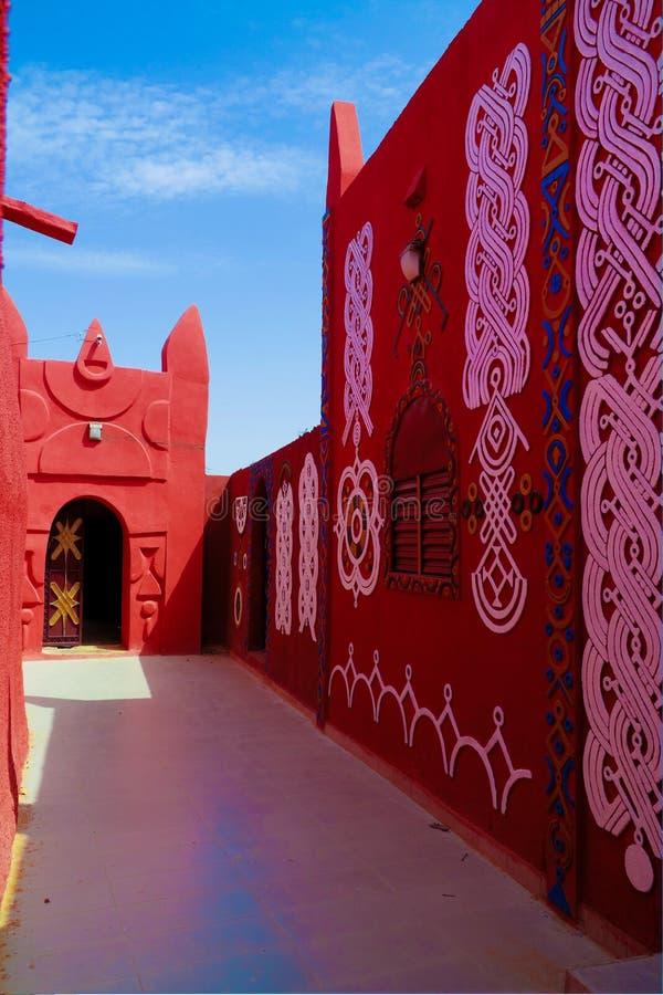 Zewnętrzny widok Damagaram sułtanu siedziba, Zinder, Niger zdjęcia royalty free