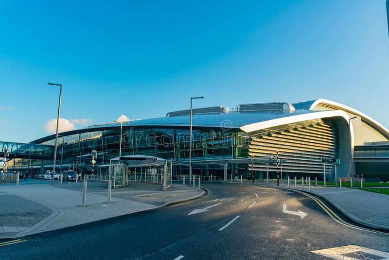 Zewnętrzny widok Dublin lotnisko zdjęcia royalty free