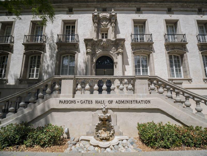 Zewnętrzny widok duchowny bramy, Hall administracja w Ca fotografia royalty free