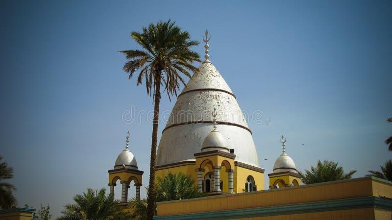 Zewnętrzny widok imama Mahdi grobowiec, Omdurman, Sudan zdjęcia stock