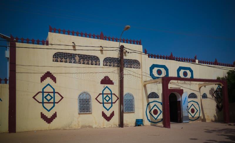 Zewnętrzny widok Maradi sułtanu siedziba, Maradi, Niger obraz stock