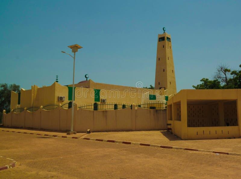 Zewnętrzny widok Uroczysty meczet Dosso, Niger obraz royalty free