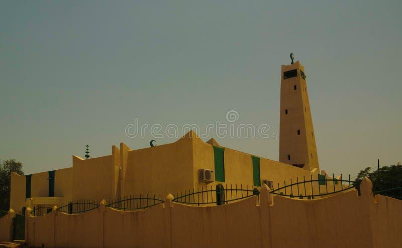Zewnętrzny widok Uroczysty meczet Dosso, Niger zdjęcie stock