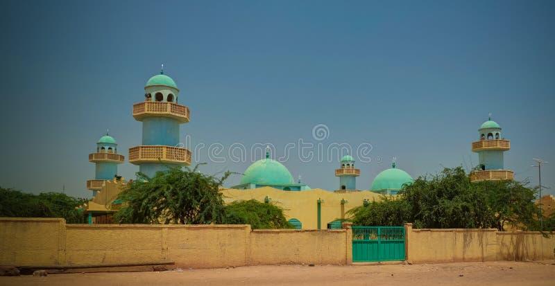 Zewnętrzny widok Uroczysty meczet Zinder, Niger zdjęcia stock