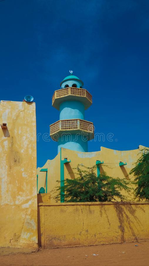 Zewnętrzny widok Uroczysty meczet Zinder, Niger fotografia stock