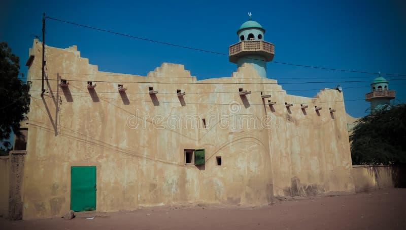 Zewnętrzny widok Uroczysty meczet Zinder, Niger fotografia royalty free