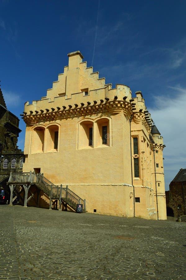 Zewnętrzny wielkiej hali Stirling kasztel zdjęcia royalty free