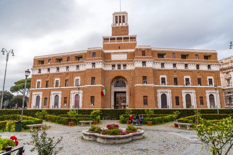 Zewn?trzny widok Anmig budynek w Rzym, W?ochy obraz stock