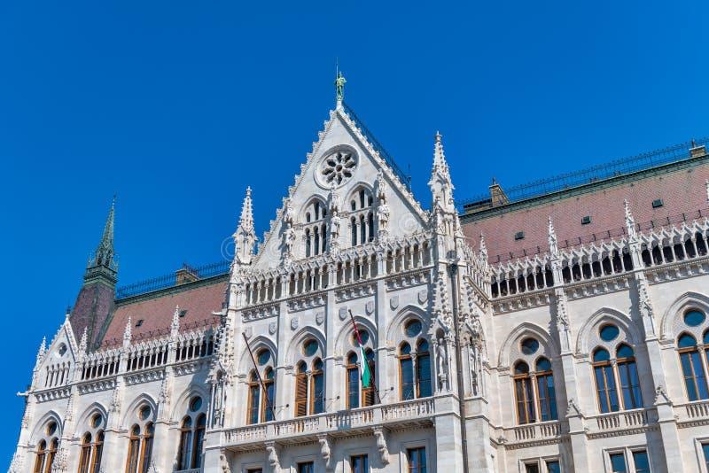 Zewn?trzny widok Budapest parlament na s?onecznym dniu obrazy royalty free