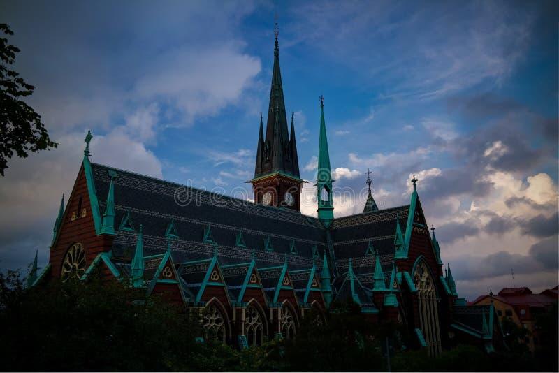 Zewn?trzny widok Oskar Fredriks Kyrka przy Gothenburg, Szwecja obraz royalty free