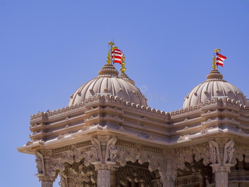Zewn?trzny widok s?awni BAPS Shri Swaminarayan Mandir zdjęcia stock