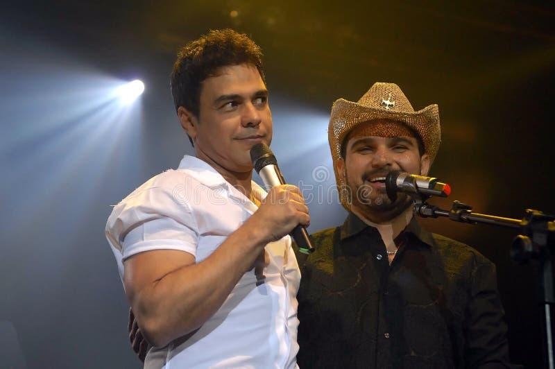 Zezé de Camargo and Luciano. Rio de Janeiro, Brazil, November 4, 2011. Singers Zezé de Camargo and Luciano, during a show at the HSBC Arena in the city of royalty free stock photo