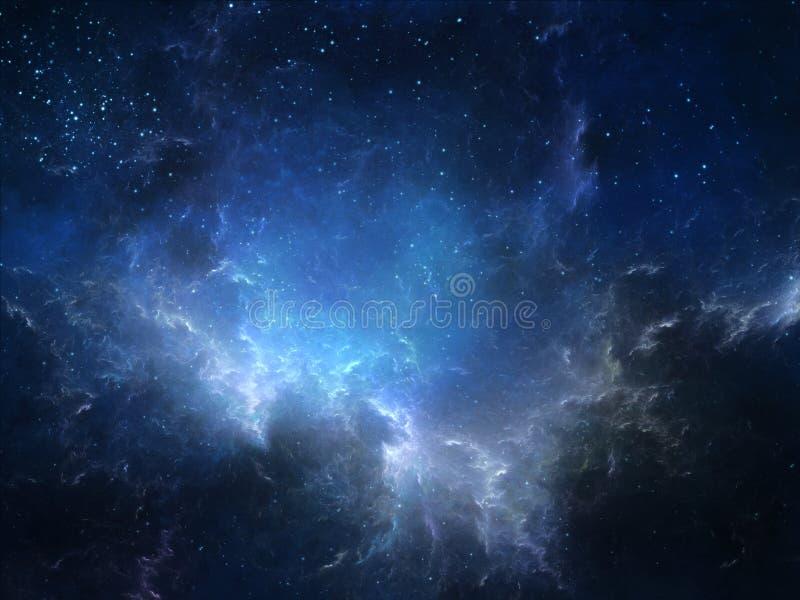 Zgłębia astronautyczną mgławicę ilustracji