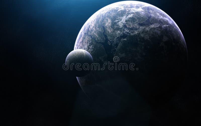Zgłębia przestrzeń Exoplanet w błękita świetle Elementy wizerunek meblują NASA obrazy royalty free