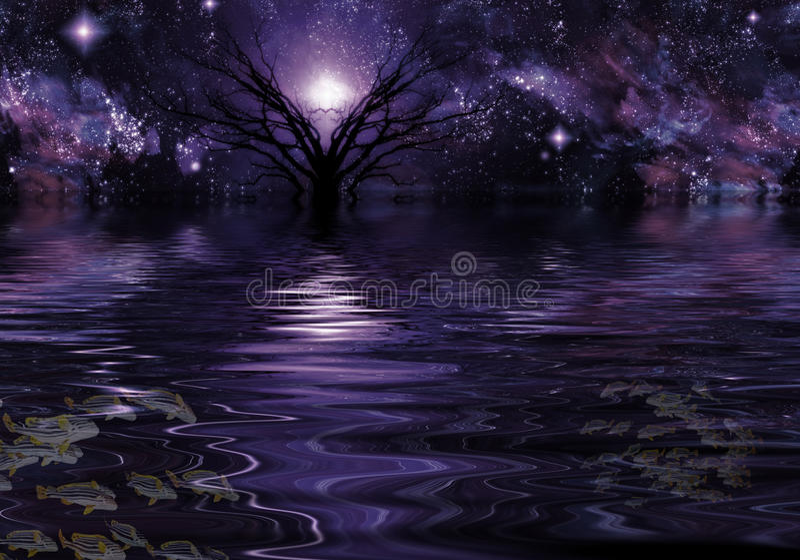 Zgłębia - purpurową fantazję ilustracji