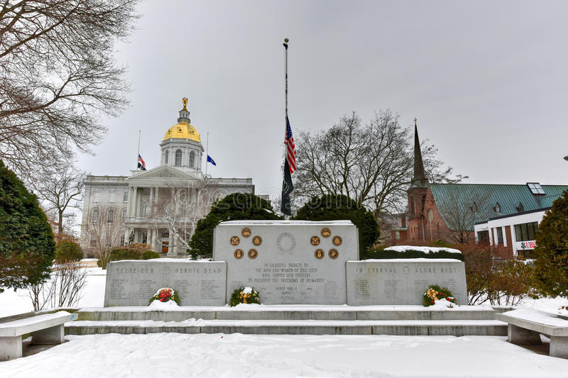 Zgoda, New Hampshire Wojenny pomnik fotografia stock