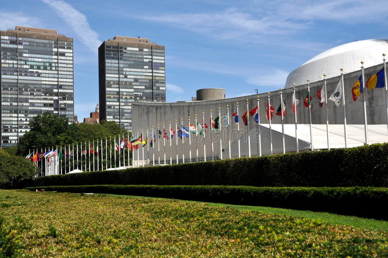 zgromadzenie bldg ogólny narodów nyc jednoczący zdjęcie royalty free