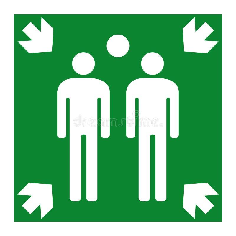 Zgromadzenie punktu symbol Odizolowywa Na Białym tle, Wektorowa ilustracja EPS 10 ilustracji