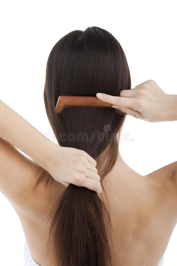 zgrzywiony włosy zdjęcia royalty free
