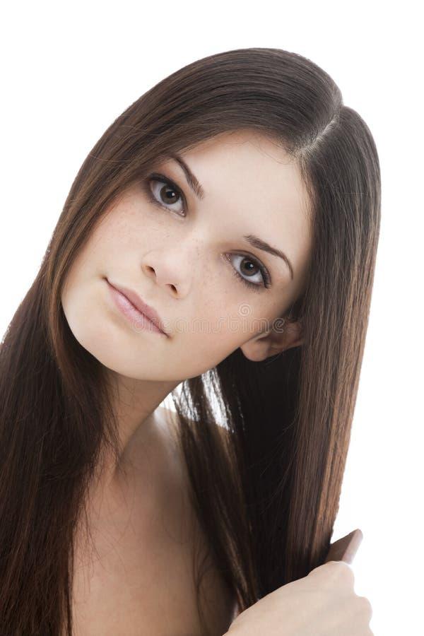 zgrzywiony włosy kobiet jej potomstwa zdjęcia royalty free